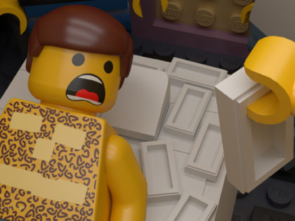 Lego Film Re-Creations 3D Model & Render