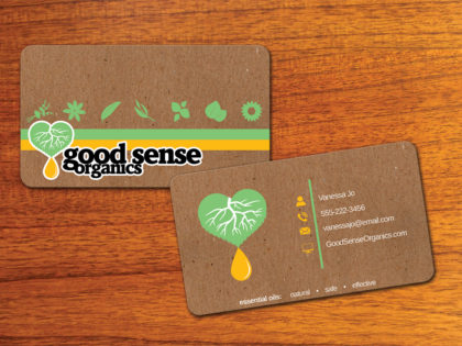 Good Sense Organics Business Card & Logo